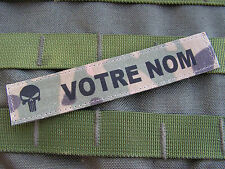 Bande patro. MULTICAM + PUNISHER - NAME TAPE US acu TAN