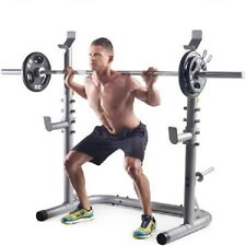Strength Power Squat Rack Lifting Bench Deadlift Curl Pull Up Cage Weight Stand