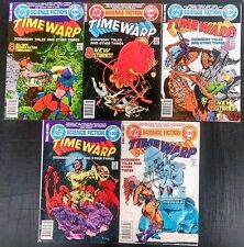 TIME WARP 1979 #1 TO 5 COMP. GIANT SIZED SERIES WITH 8 SCI-FI STORIES PER BOOK!!