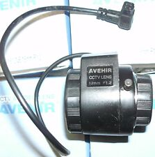 "1/3"" Avenir direct drive Iris F1.2, 12 mm,  CS-Mount CCTV Lens Japan. New in Box"