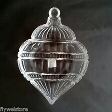 Fifth Avenue Crystal LTD Christmas Ornament Shaped Candy Trinket Dish 8""