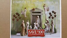 Demdaco Willow Tree Special Nativity Collection 19 Piece Set /w Angels