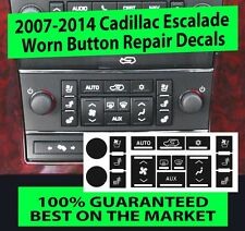 2007 - 2014 Cadillac Escalade - A/C Climate Control Button Repair Decals sticker