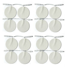 "2""x2"" 16PC Round Replacement Pigtail Electrode Pads 4 Digital Massager/Tens Unit"