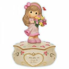 Precious Moments Mom Always In My Heart Girl Flower Musical Figurine New 114104