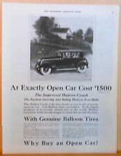 Vintage 1924 magazine ad for Hudson - Hudson Coach, with Genuine Balloon Tires