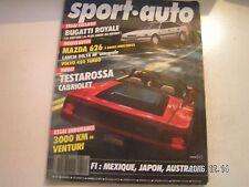 **d Sport Auto n°311 La colonne d'Ayrton Senna / Bugatti T 41 Royale