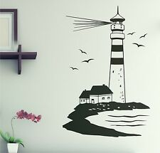 LIGHTHOUSE Maritime Wall stickers Wall tattoo 90cm Bathroom WC Toilet Sticker W2