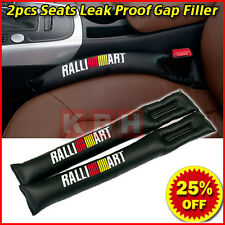2pcs PU Leather Car Seats Leakproof Stop Gap Filler Pad Seam Holster Ralliart