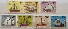 Singapore Used Stamps - 7 pcs 1980 Ships Stamps
