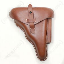 German WW2 DWM 1917 Luger Holster - Brown Leather - WW2 Reproduction