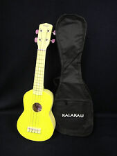 Brand New Stagg Ukulele LEMON YELLOW with Free Gig Bag - Perfect Gift for Kids!
