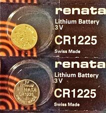 CR1225 RENATA WATCH BATTERIES (2piece) BR1225 ECR1225 New Authorized Seller