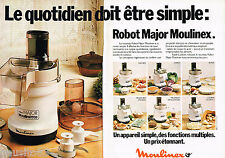 PUBLICITE ADVERTISING 055  1979  MOULINEX  le ROBOT MAJOR MOULINETTE (2p