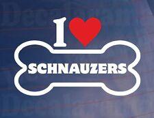Me love/heart Schnauzers Novedad Hueso car/van/window Adhesivo ideal para los propietarios de perros
