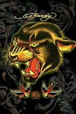 ED HARDY ~ BLACK PANTHER 13 ~ 24x36 TATTOO ART POSTER ~ NEW/ROLLED!