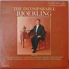 JUSSI BJOERLING: The Incomparable Bjoerling-NM1961LP RCA SHADED NIPPER MONO
