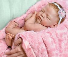 NEWBORN Love - Snuggled Cozy in her Blanket - Collectors Baby Girl Doll