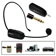 Wireless Handsfree Headset Microphone Radio FM Megaphone Mic for Speaker Teacher