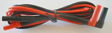 GENUINE FLUKE TL224 SUREGRIP INSULATED TEST LEAD DMM RIGHT ANGLE RED/BLACK