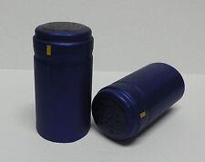 SHRINK CAPSULES 50ps-(BLUE FLOR METALLIC)-QUALITY PVC-WINE BOTTLE CAPS