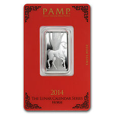 10 gram Silver Pamp Suisse Lunar Year of the Horse Bar - In Assay - SKU #78606
