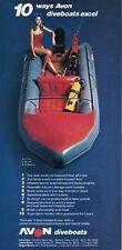 1979 Avon 12 1/2' S-400 40HP Mercury SCUBA Dive Boat PRINT AD T