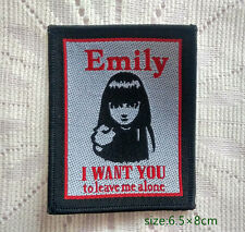 Emily The Strange. I Want You To Leave Me Alone. Sew On T-shirt  Bags Patch