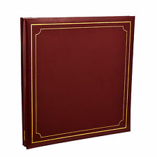 Extra-Large Red  32x26cm Self Adhesive Photo Album 24/Sheets 48/Sides AL-9177