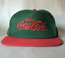 Vintage Coca Cola Snapback Baseball Hat Cap Green And Red Color Made in USA