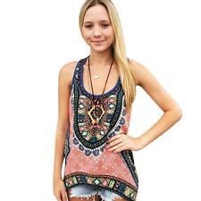 Women Summer Vest Top Sleeveless Shirt Blouse Ladies Casual Tank Tops T-Shirt M