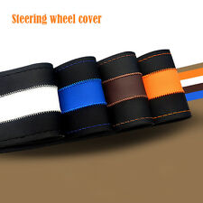 Hot Leather DIY Car Steering Wheel Cover With Needles and Thread For 38MM 4Color