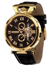 "Calvaneo 1583 LUXURYLINE ""Venedi Gold Black"" noble Gold plated Automatic watch"
