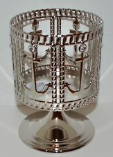 NEW BATH & BODY WORKS ANCHOR PEDESTAL LARGE 3 WICK CANDLE HOLDER SLEEVE 14.5 OZ