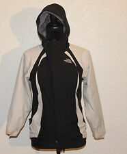The North Face HyVent Girls Black Coat Full-Zip Hooded Lined Jacket Size Medium