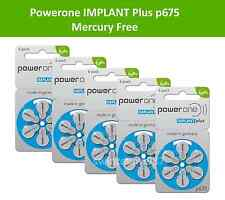 30 Powerone Size 675P Cochlear Implant **Mercury Free** Hearing Aid Batteries