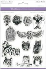 New MULTI CRAFT RUBBER STAMP clear cling BIRD OWL MEDLEY SET FREE US SHIP