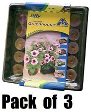 (3) Jiffy J425 25 Count Jiffy 7 All In One Seed Starting Green House Tray & Dome