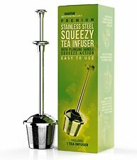Kiss Me Organics Stainless Steel Tea Infuser With Tea Squeezing Action