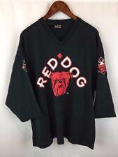 Vintage Red Dog 3/4 Sleeve V Neck T Shirt Rare Hockey Jersey 1990s Rap Band HC