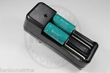 "2 PILES ACCUS RECHARGEABLE CR123A 16340 3.7V 1200mAh + CHARGEUR "" RAPIDE """