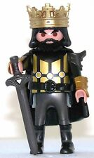 BLACK KING PLAYMOBIL to Golden Knight castle Tournament Crusader Crusader - 1582