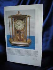 "Instruction Booklets 4 Kundo 9"" 400 Day Anniversary Clock Suspension Spring"