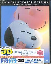 ANIMATION-THE PEANUTS MOVIE 3D & 2D BLU-RAY+DVD-JAPAN 2Blu-ray+DVD Ltd/Ed K98
