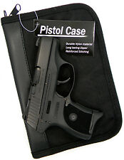 PISTOL GUN CONCEALMENT STORAGE CASE w/ EXTRA MAG HOLDER for GLOCK 26 27 42 43