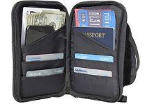 Travel Wallet and Passport Holder Neck Pouch - RFID Blocking Document Organizer