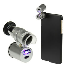 60X Zoom Mini Camera Lens Microscope Magnifier + Back Cover For iPhone 6 Plus