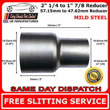 57mm to 48mm Mild Steel Standard Exhaust Reducer Connector Pipe Tube