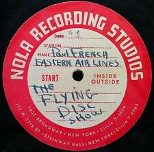 """PAUL FRENCH JR eastern air lines flying disc show 2x 78 Rpm 12"""" ACETATE Rare"""