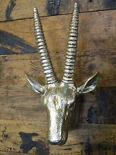 ANTELOPE HEAD WALL MOUNTED GOLD ANIMAL HEAD WALL HANGING STAG HEAD